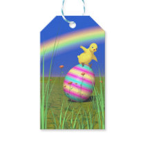 Cute Baby Chick on Easter Egg Gift Tags