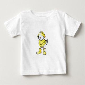 Cute Baby Chick Wearing a Yellow Raincoat Baby T-Shirt