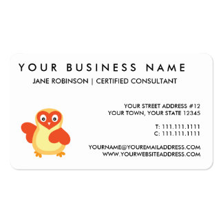 Cute Baby Chick with Custom Text Business Card