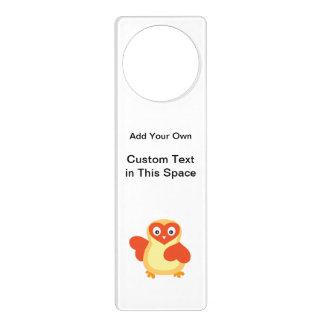 Cute Baby Chick with Custom Text Door Hanger