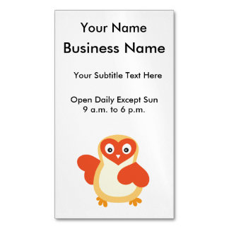 Cute Baby Chick with Custom Text Magnetic Business Card