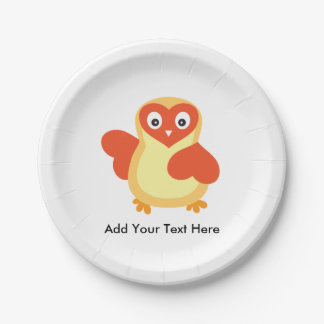 Cute Baby Chick with Custom Text Paper Plate