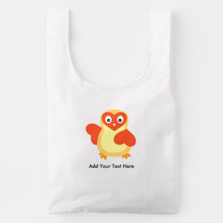 Cute Baby Chick with Custom Text Reusable Bag
