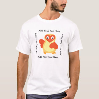 Cute Baby Chick with Custom Text T-Shirt