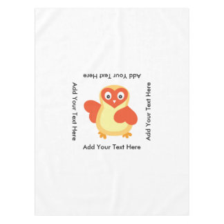 Cute Baby Chick with Custom Text Tablecloth