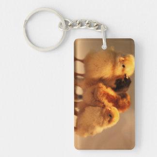 Cute Baby Chicks Keychain