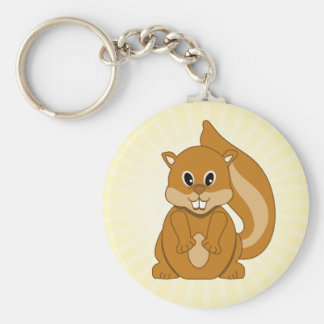 Cute Baby Chipmunk Animal Cartoon Keychain
