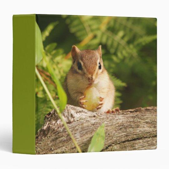 "Cute Baby Chipmunk with Grape 1.5"" Photo Album Binder"