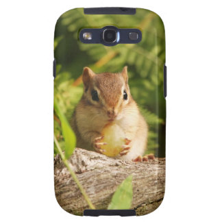 Cute Baby Chipmunk with Snack Samsung Galaxy SIII Cover