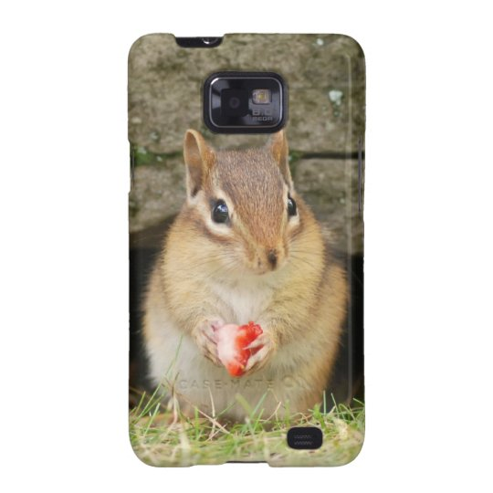 Cute Baby Chipmunk with Strawberry Samsung Galaxy SII Case