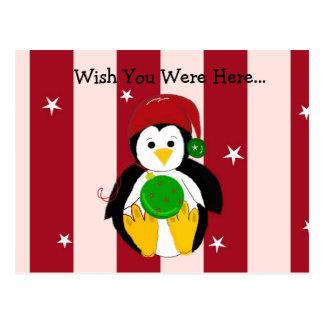 Cute Baby Christmas Penguin Postcard