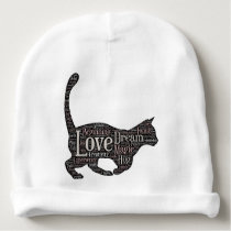 Cute Baby Cotton Beanie with black cat