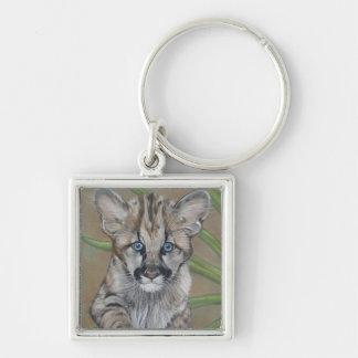 cute baby cougar big cat wildlife art keychain