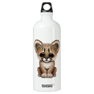 Cute Baby Cougar Cub Water Bottle