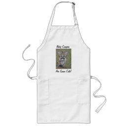 cute baby cougar kitten realist wildlife art apron
