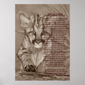 cute baby cougar kitten wildlife poem art poster