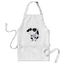 artsprojekt, cow, cute cow, kawaii cow, cute farm, cows, animal, kawaii, cute animal, farm animal, kid cow, cuteness, cute, illustration cow, baby animal, little animal, little cow, baby cow, Apron with custom graphic design