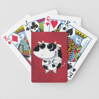Cute Baby Cow Bicycle Playing Cards