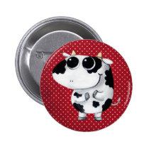artsprojekt, cow, cute cow, kawaii cow, cute farm, cows, animal, kawaii, cute animal, farm animal, kid cow, cuteness, cute, illustration cow, baby animal, little animal, little cow, baby cow, Button with custom graphic design