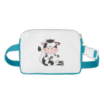Cute Baby Cow Cartoon Fanny Pack