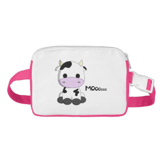 Cute baby cow cartoon girls waist bag