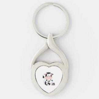 Cute Baby Cow Cartoon Keychain