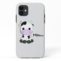 Cute baby cow cartoon kids iPhone 11 case