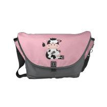 Cute Baby Cow Cartoon Small Messenger Bag