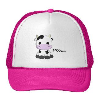 Cute baby cow cartoon trucker hat