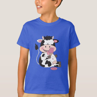 Cute Baby Cow Cartoon With His Favorite Treat T-Shirt
