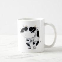 artsprojekt, cow, cute cow, kawaii cow, cute farm, cows, animal, kawaii, cute animal, farm animal, kid cow, cuteness, cute, illustration cow, baby animal, little animal, little cow, baby cow, Mug with custom graphic design