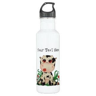 Cute Baby Cow Customizable 24oz Water Bottle