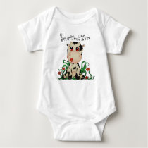 Cute Baby Cow Customizable Infant Creeper
