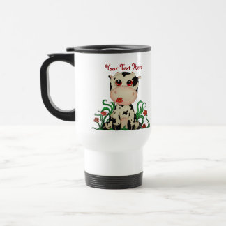 Cute Baby Cow Customizable Travel Mug Mugs
