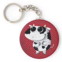 Cute Baby Cow Keychain