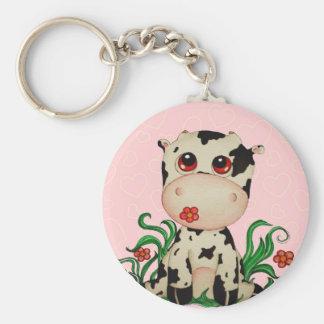 Cute Baby Cow Keychain