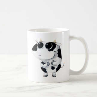 Cute Baby Cow Classic White Coffee Mug