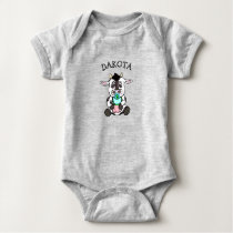 Cute Baby Cow Personalized Baby Bodysuit