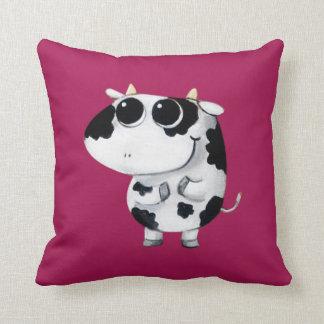 Cute Baby Cow Throw Pillow