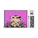 Cute Baby Cow Postage Stamp