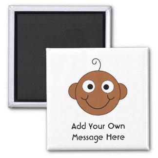 Cute Baby. Custom Text. Fridge Magnet