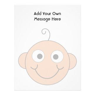 Cute Baby. Custom Text. Letterhead Template