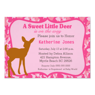 Cute Baby Deer Baby Shower Invitation