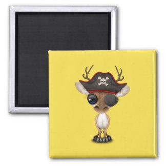 Cute Baby Deer Pirate Magnet