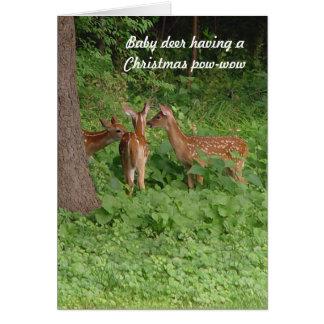 Cute Baby Deer Pow-Wow Christmas Card