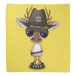 Cute Baby Deer Sheriff Bandana