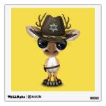 Cute Baby Deer Sheriff Wall Sticker