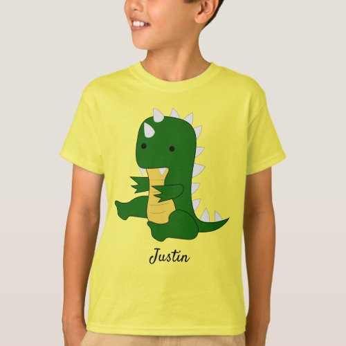 Cute Baby Dino Boys T_Shirt