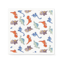 Cute Baby Dinosaur Colorful Boy Pattern Print Napkin