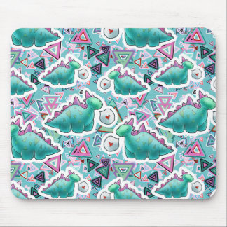 Cute Baby Dinosaurs Pattern Mouse Pad